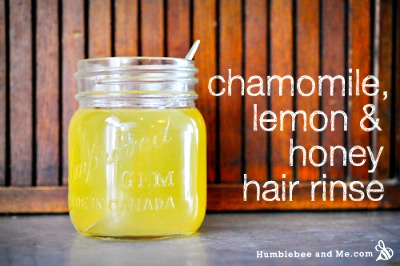 Homemade Honey, Lemon, and Chamomile Hair Rinse Recipe