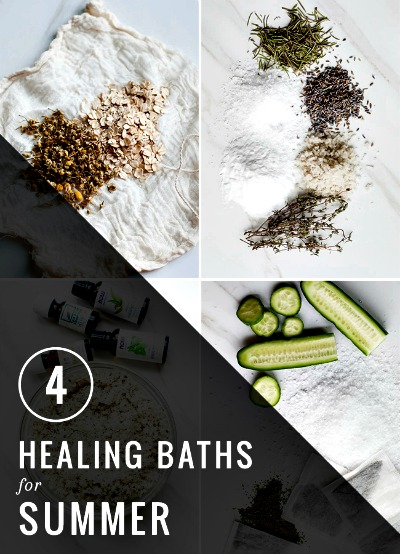 How to Make 4 Healing Baths for Summer