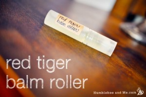 Red Tiger Balm Pocket Roller Recipe