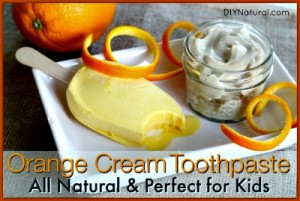 Homemade Orange Cream Natural Toothpaste Kids Will Love