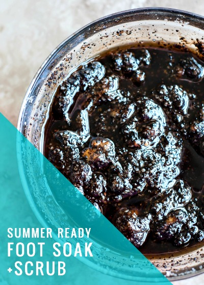 Homemade Summer Ready Foot Soak and Scrub Recipes