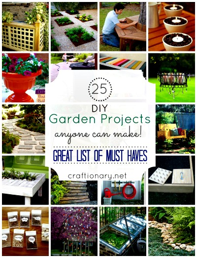 25 Fantastic DIY Garden Projects Anyone Can Make