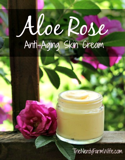 Homemade Aloe Rose Anti-Aging Skin Cream Recipe