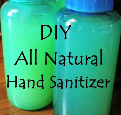 DIY All Natural Hand Sanitizer Recipe