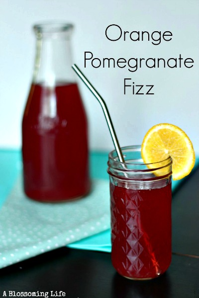 Homemade Soda Recipe - Orange Pomegranate Fizz