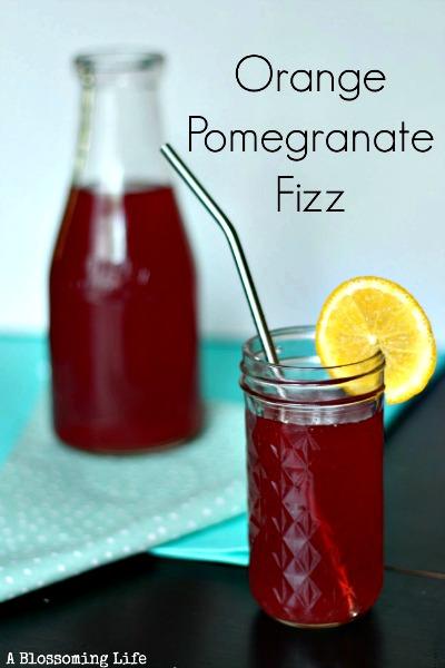 Homemade Soda Recipe - Orange Pomegranate Fizz