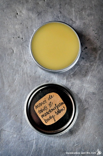 How to Make Homemade Monoi de Tahiti and Meadowfoam Lip & Body Balm