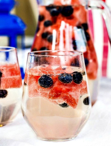 4th of July Wine Sparklers Drink Recipe