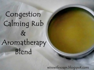 Aromatherapy Blend and Rub for Coughs and Congestion