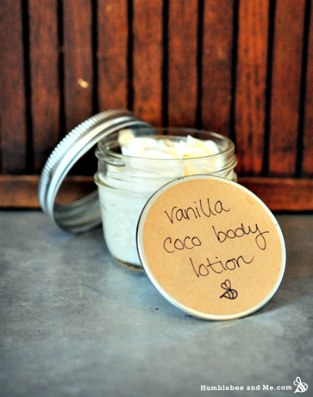 Homemade Vanilla Coco Body Lotion Recipe