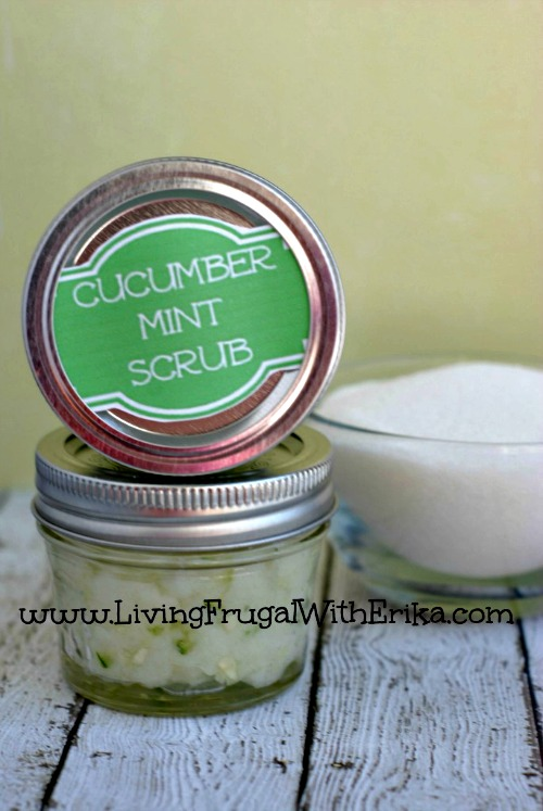 How to Make Cucumber Mint Body Scrub
