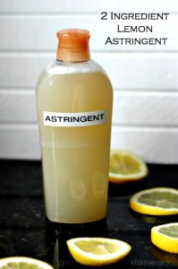 How to Make Homemade Lemon Astringent