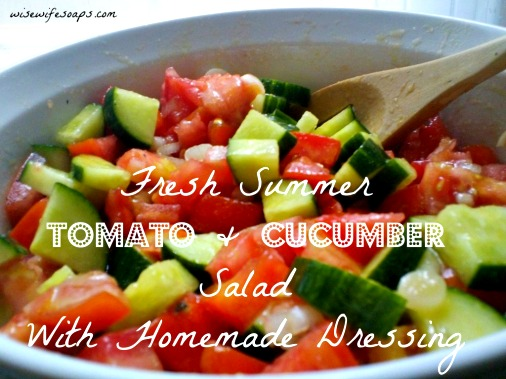 Farmer's Market Tomato and Cucumber Salad Recipe