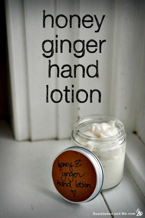 Homemade Honey Ginger Hand Lotion