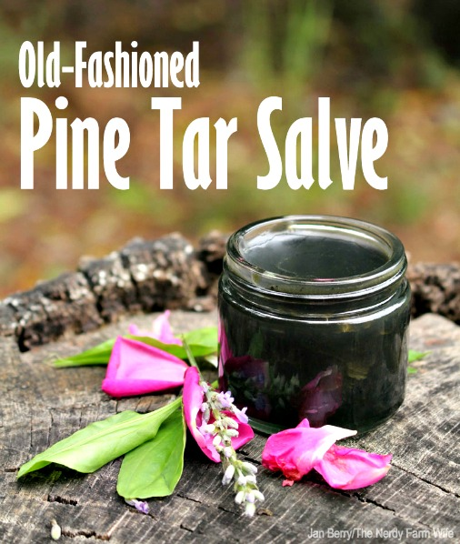 Homemade Old-Fashioned Pine Tar Salve