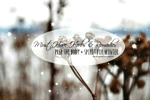 Must-Have Herbs & Remedies - Prep Your Body + Spirit for Winter
