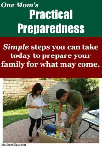 One Mom's Practical Preparedness- Simple Steps You Can Take Today to Prepare your Family for Emergencies