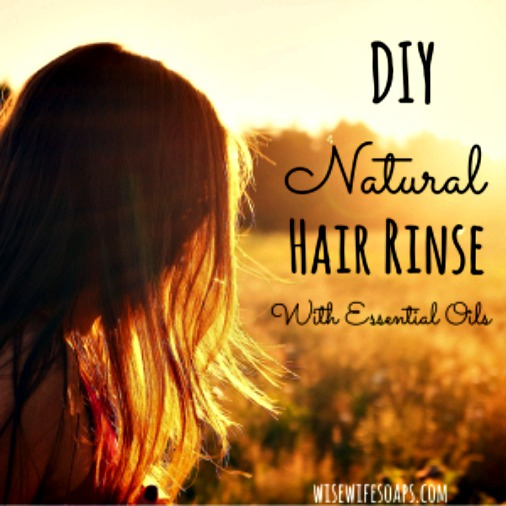 How to Make Easy, DIY Hair Rinses with Essential Oils