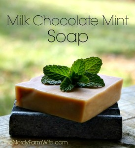 Homemade Milk Chocolate Mint Soap Recipe