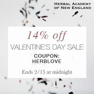 3-Day Valentines Sale on Herbal Classes & Products