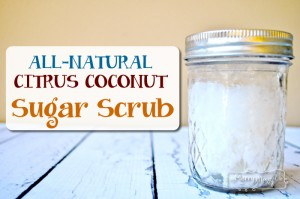 Homemade Citrus Coconut Sugar Scrub with Essential Oils