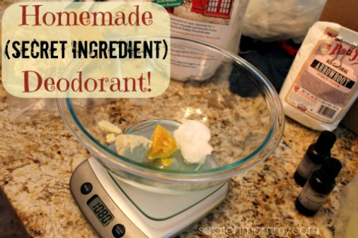Homemade DIY Deodorant
