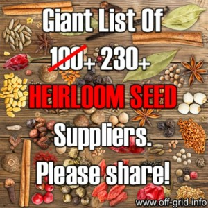 Giant List of 230+ Heirloom Seed Suppliers