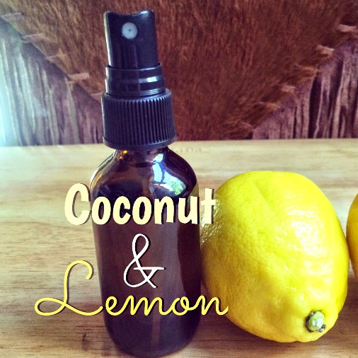 Homemade Coconut and Lemon Hand Sanitizer Spray