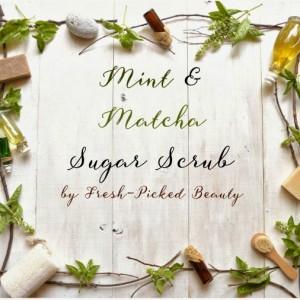 Homemade Mint & Matcha Sugar Scrub