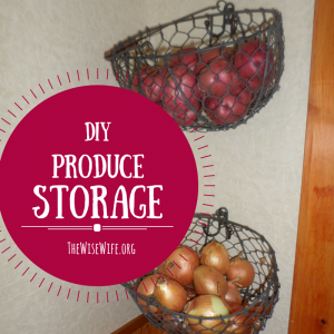 How to Make a DIY Storage Unit for Produce