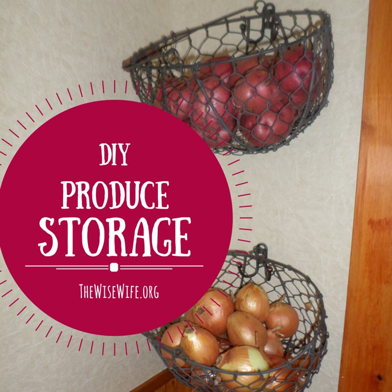 DIY Produce Storage
