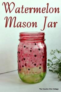 How to Make a Watermelon Mason Jar