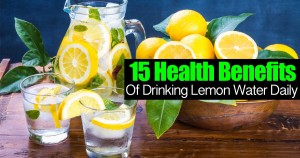 15 health benefits of drinking lemon water