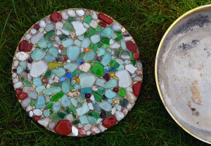 DIY – How to Make a Sea Glass Stepping Stone