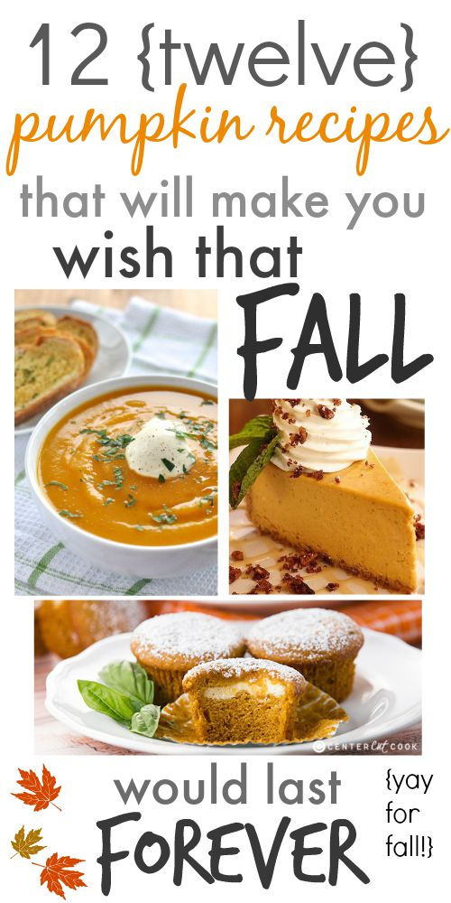 12 Pumpkin Recipes for Fall