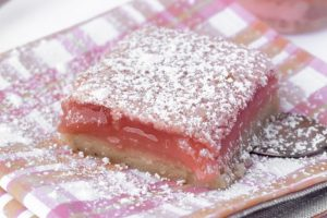 Homemade Hibiscus Lemon Bars