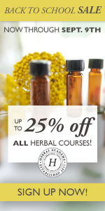 Up To 25% OFF All Herbal Courses at The Herbal Academy Through September 9th